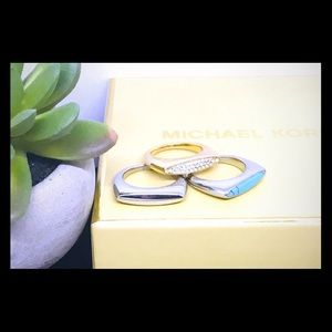 Michael Kors Stackable Rings Size 8